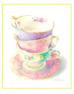 teacups, artist, vintage, pinterest