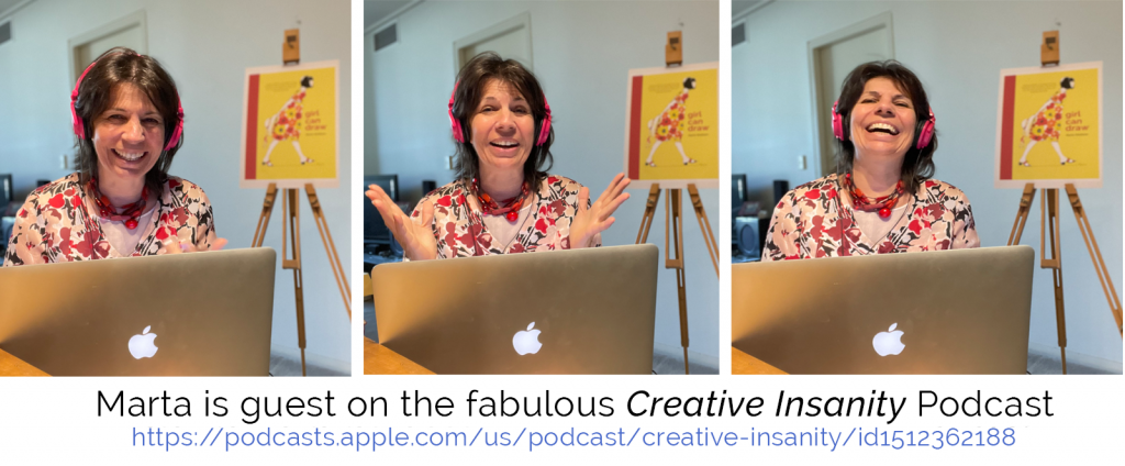 I was delighted to be a guest on Creative Insanity Podcast, May 1.